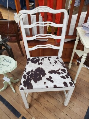Chair with Faux Cowhide