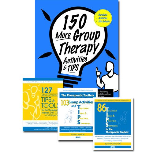 150 Group Therapy Activities and Tips & Two Other Books from the TIPS & Tools Series