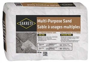 SAKRETE MULTI-PURPOSE SAND 25 KG