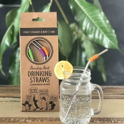Reusable Metal Straw 4 Pack