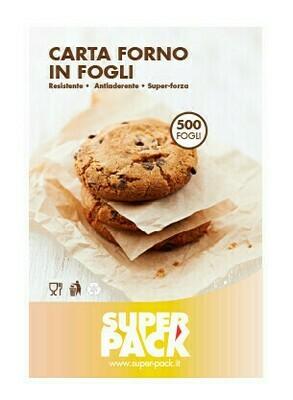 500 Fogli Carta Forno B-Siliconata 40x60 cm