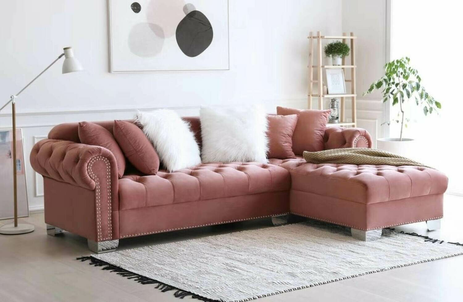 Royal Pink Sectional