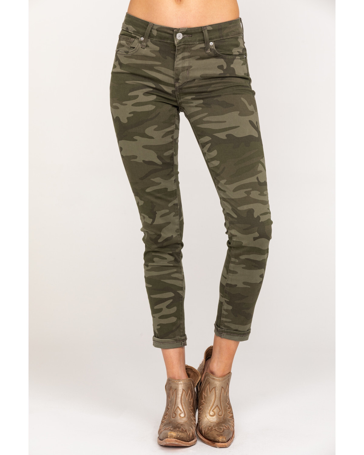 Levi's 711 Cropped Camo