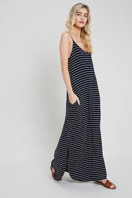 Wishlist Maxi Dress Navy Stripe