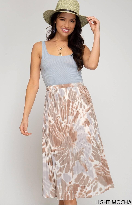 She & Sky Skirt Multi