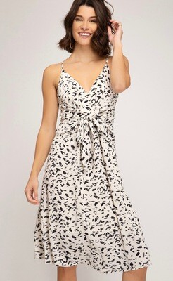 She & Sky Dress Cream/Black