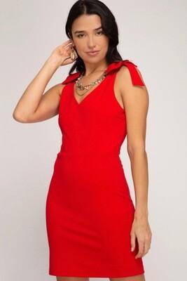 She & Sky Dress Red