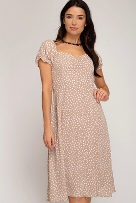 She & Sky Tan Dress