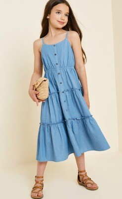 Hayden Maxi Dress Chambray