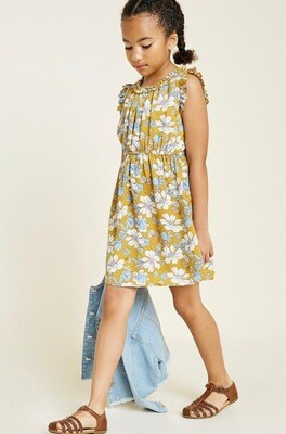 Hayden Floral Dress Mustard