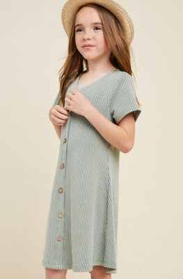 Hayden Striped Dress Sage