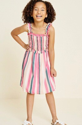 Hayden Striped Dress Pink