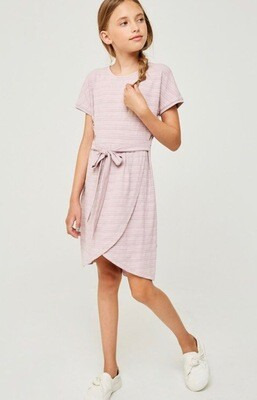 Hayden Belted Dress Blush