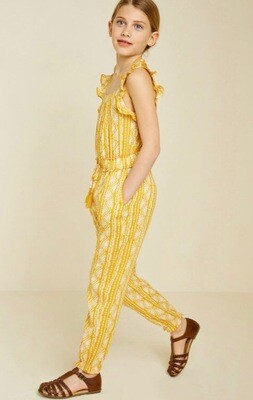 Hayden Printed Jumpsuit Yellow