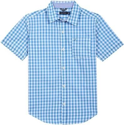 Nautica Gingham Shirt Turquoise