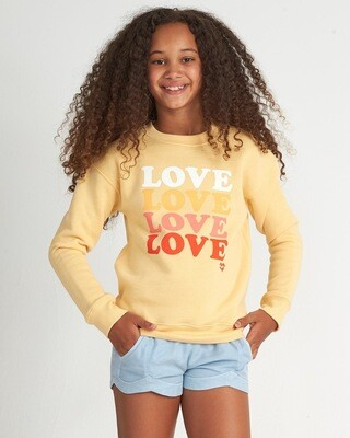 Billabong Love Sweatshirt Yellow