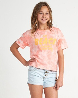 Billabong Beach Tie Dye Tee Peach