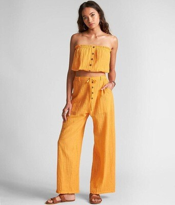 Billabong Sincerely Jules Spring Tube Top Yellow