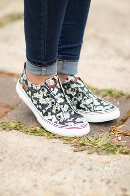 Blowfish Okay Sneaker Black Floral