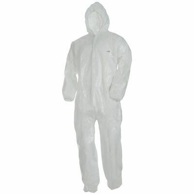 Wegwerp coverall L.Brador WIT DC20 - maat MEDIUM