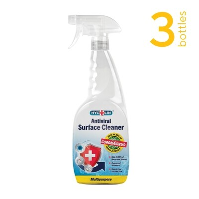 3 bottles x Mirius Hycolin™ Antiviral Surface Cleaner (750ml)