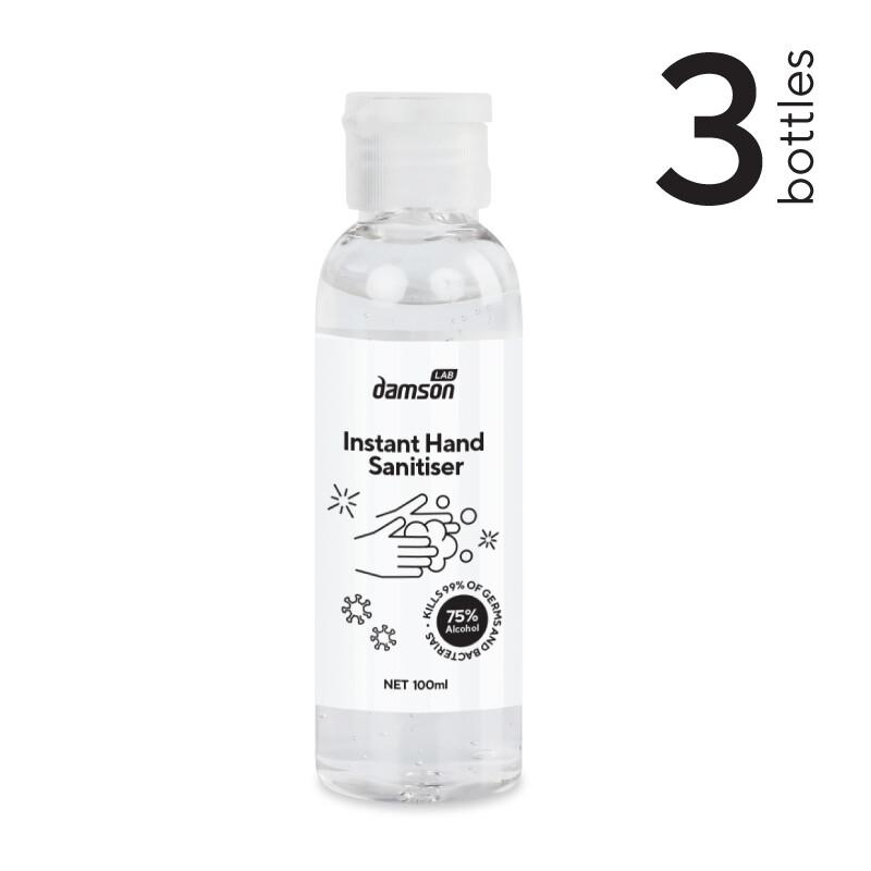 3 x 100ml Hand Sanitiser hand gel - Kills Coronavirus on contact