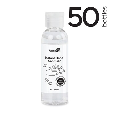 50 x 100ml Hand Sanitiser hand gel - Kills Coronavirus on contact