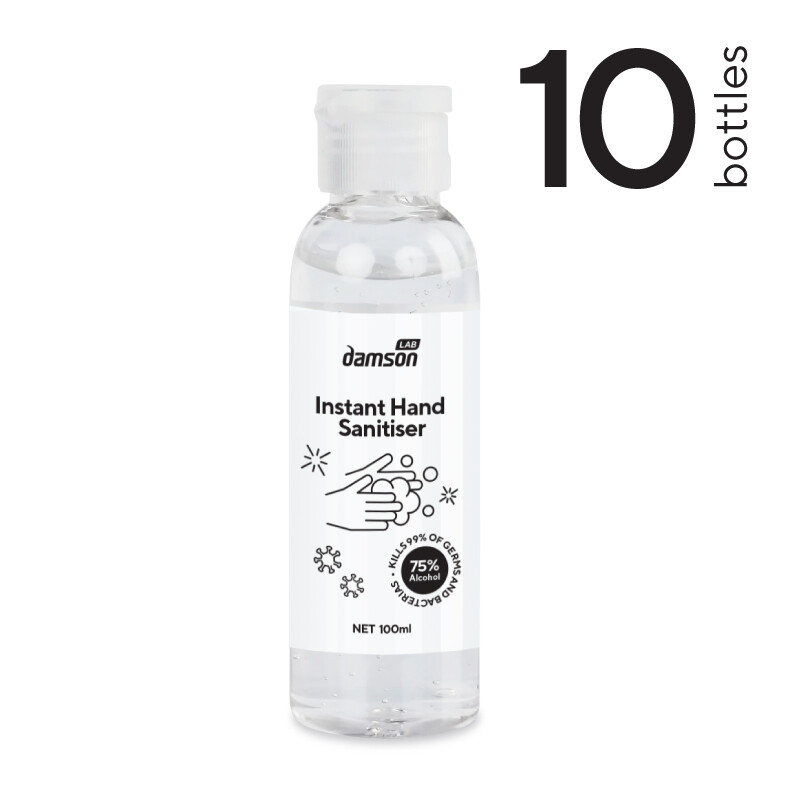 10 x 100ml Hand Sanitiser hand gel - Kills Coronavirus on contact