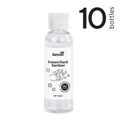 10 x 100ml Hand Sanitiser hand gel - Kills Coronavirus on contact
