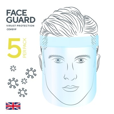 5 Pack face guard / shield / visor
