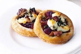 Goat's Cheese & Caramelized Red Onion Tartlet