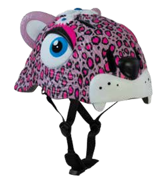 CASCO LEOPARDO ROSA