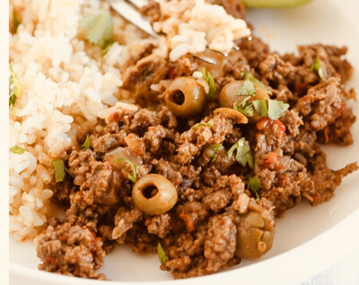 Picadillo, per serving Available Friday