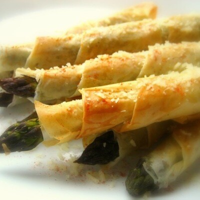 - Crispy Asparagus Wrapped In phyllo-1 Dozen