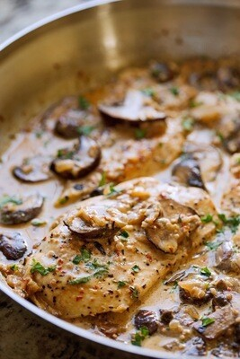 Greek Chicken With Mushroom Per Serving