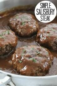 Salisbury steak With Onion Gray