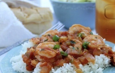 Shrimp Creole with Rice Per Serving