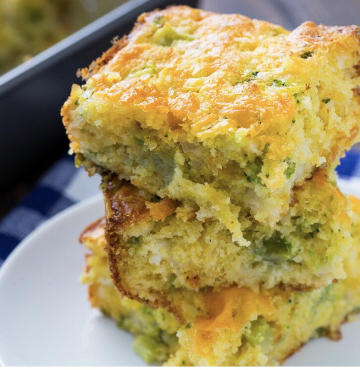 Broccoli Cornbread Per Square