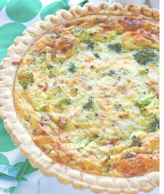 Broccoli White Cheddar Quiche