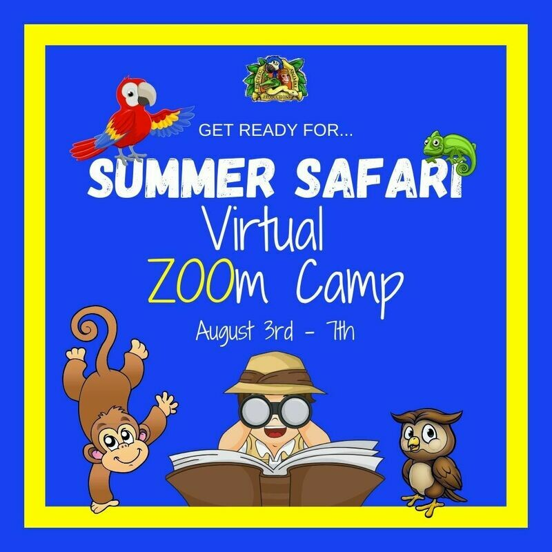 Summer Safari Virtual ZOOm Camp! - August Dates