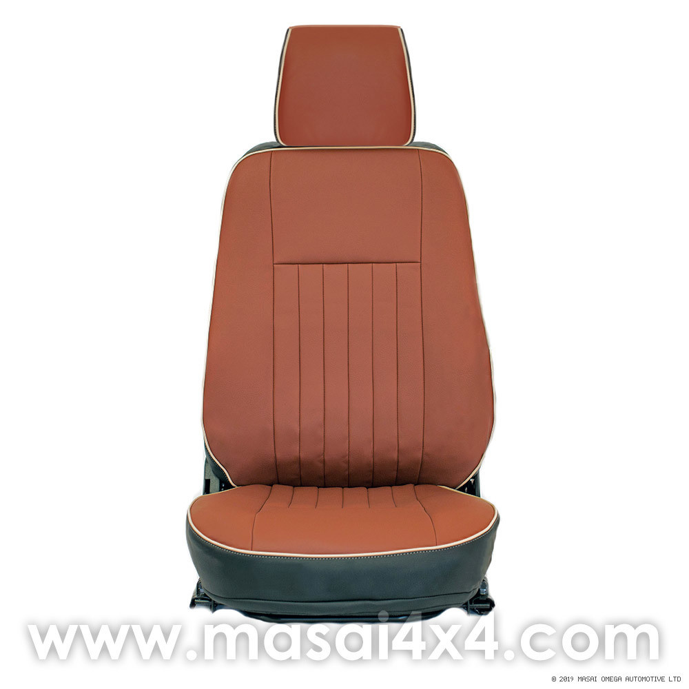Replacement Seat Covers for Land Rover Defender TD5, 200TDI & 300TDI - FLUTE style with Piping