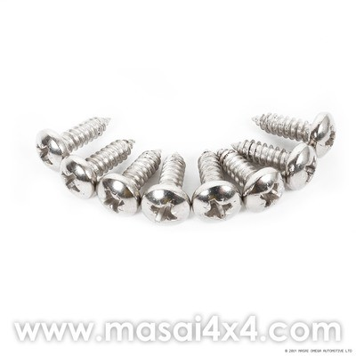 Front Grille Screw Kit for Defender - Stainless Steel