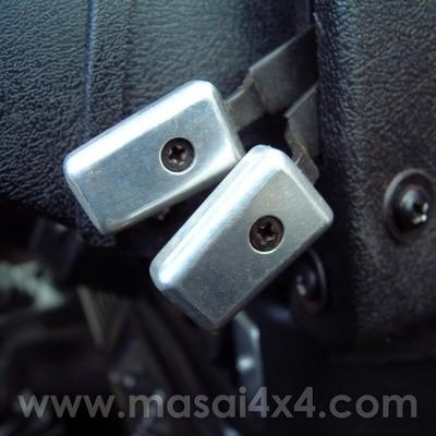 Billet Aluminium Heater Control Handles (Set of 3) For Defender 90 / 110 - Pre 07'