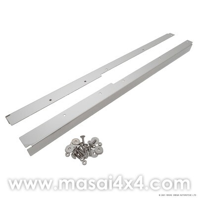 Front Door Threshes - Stainless Steel for Land Rover Defender 90/110 2 Door)