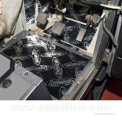 Dynamat Xtreme Sound Deadening Kit - Foot Well for Defender Puma Models (Post 2007)