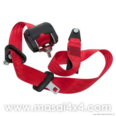 Front Seat Belt Set for Defender 110 Station Wagon(Red) (equivalent to BTR6563)