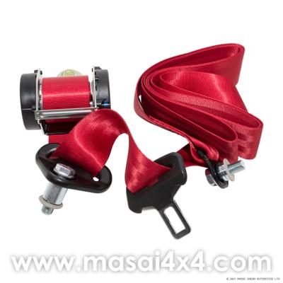Rear Seat Belt Set for Defender Station Wagon (Red) (equivalent to EVL501580)