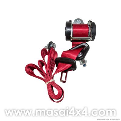 Rear Outer Seat Belt Set for Defender 110 (Post 2007) (Red)