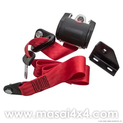 Front Seat Belt Set for Defender 110 TD5 Onwards (Red)