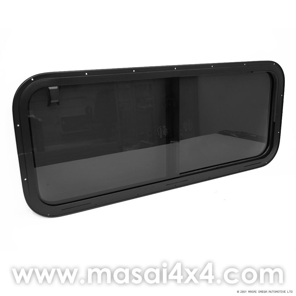 Side Sliding Window for Defender Crew Cabs (4mm Glass) - Dark Tint - LR044316